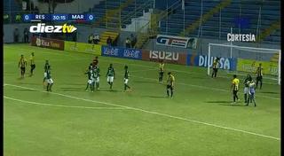 ¡GOOOOOL DE MARATHÓN! Yustin Arboleda abre el marcador 0-1 ante Real España