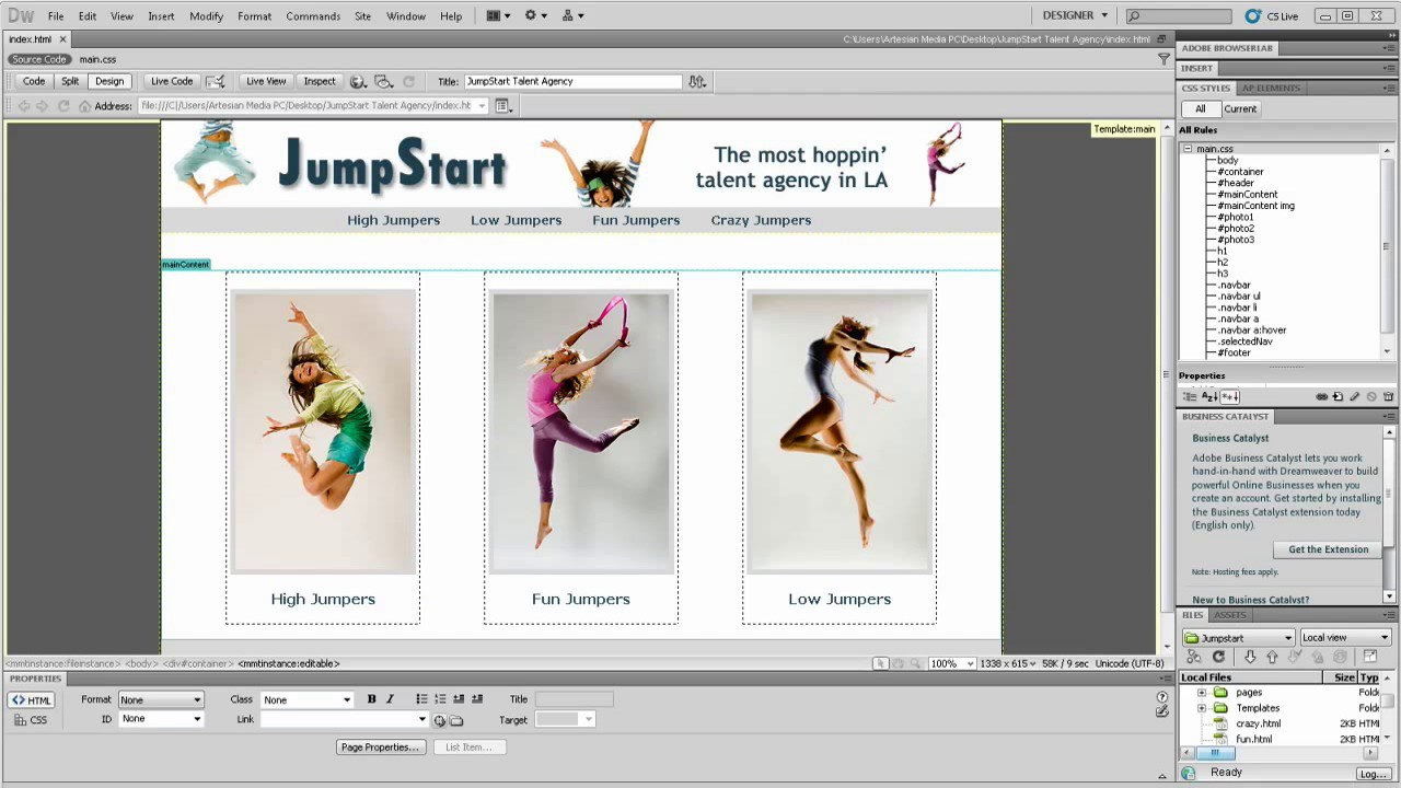 Introduction to Dreamweaver CS5