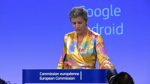 UE impone multa récord de 4.342 millones de euros a Google