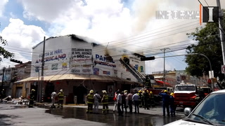 Incendio en bodega de pañales en San Juan Bosco