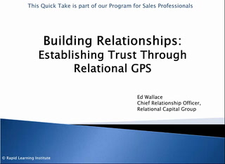 <p>Quick Take - Relational GPS</p>