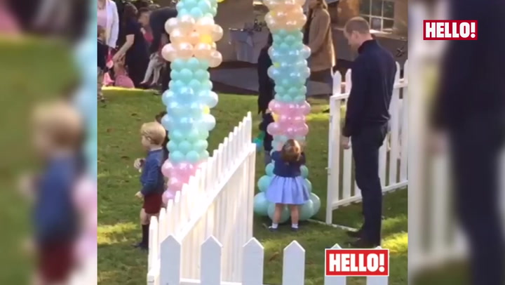 Princess Charlotte is walking! See her adorable toddle