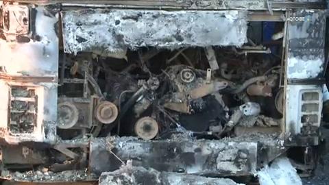 Más de 50 muertos en incendio de bus en Kazajistán