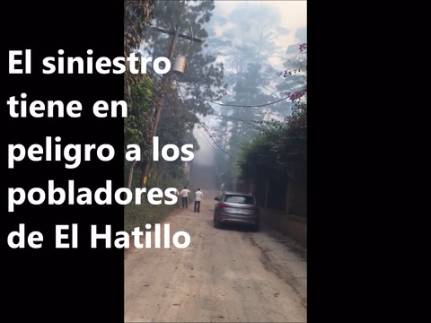 Incendio consume bosques de la capital de Honduras