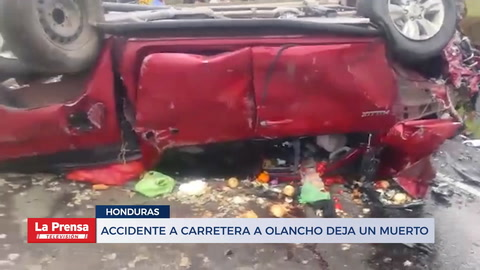 Accidente en carretera a Olancho deja un fallecido