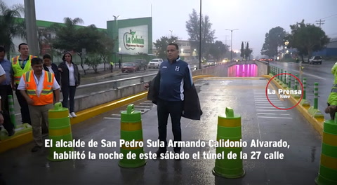 Habilitan túnel de la 27 calle de San Pedro Sula