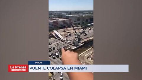 Puente colapsa en Miami