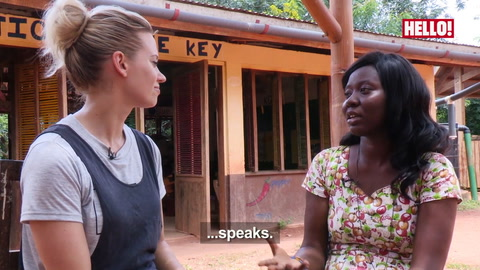Kimberly Wyatt visits Ghana to see how Red Nose Day cash is building brighter futures