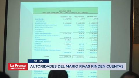 Autoridades del Mario Rivas rinden cuentas