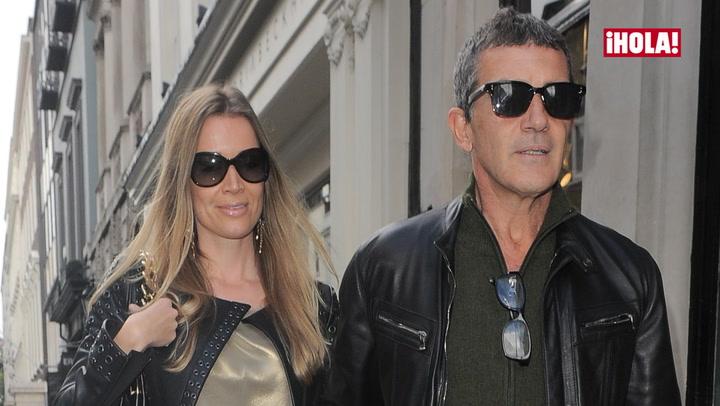Antonio Banderas y Nicole Kimpel, plenamente integrados en su vida londinense