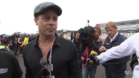 VIDEO: Brad makes a Pitt stop