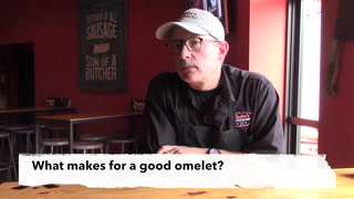 Brian Luscher Shows How to Make an Omelet (You'll Break a Few Eggs)