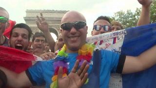 Borrachera de alegría en Francia por la corona de los Bleus