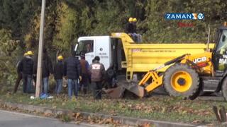 Yalova'da köprülü kavşak için 158 ağaç kesildi