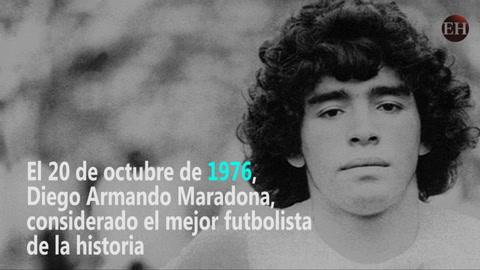 Maradona hace su debut  como profesional del fútbol