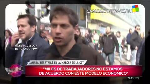 Kirchneristas criticaron al gobierno en la marcha de la CGT
