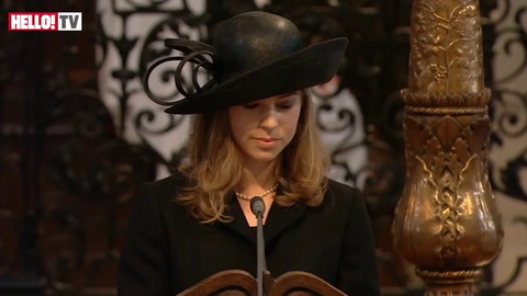 Amanda Thatcher\'s reading during Margaret Thatcher\'s funeral