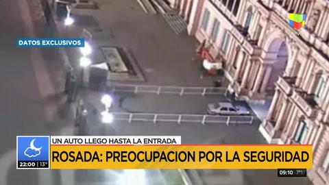 Preocupación por un coche que ingresó a la Casa Rosada tras derribar las rejas