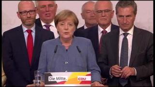 Merkel gana sus cuartas elecciones