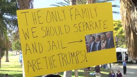 Protesta contra separación de familias de migrantes