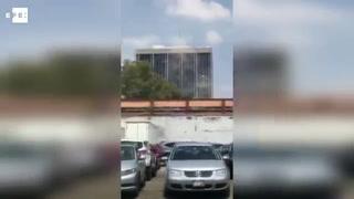Impactantes imágenes del desplome de un edificio en México tras terremoto