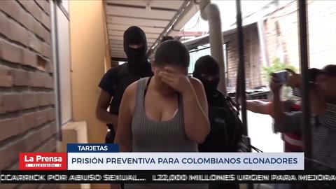 Prisión preventiva para colombianos clonadores
