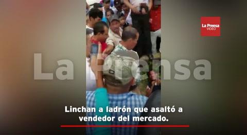 Linchan a ladrón que asaltó a vendedor del mercado en Copán