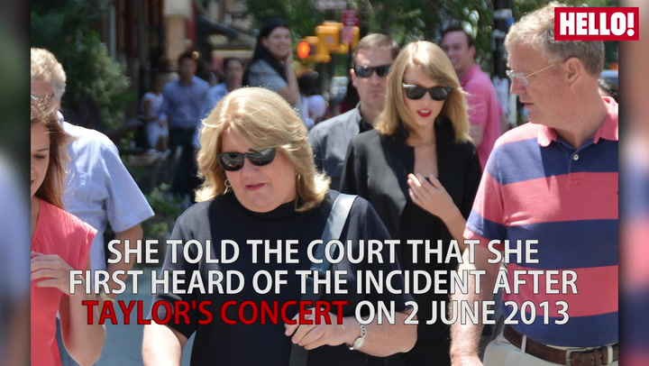 Taylor Swift\'s mother Andrea became emotional as she took to the stand Wednesday