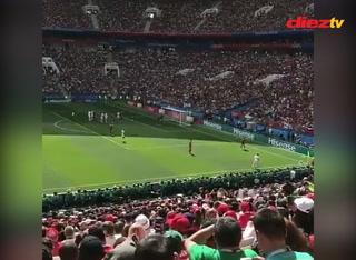Así se vio el gol de Cristiano Ronaldo desde la gradería del Estadio Luzhniki