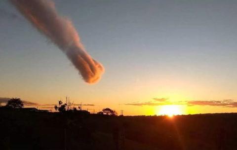 Extraña nube causa pánico a los residentes de Teixeira de Freitas