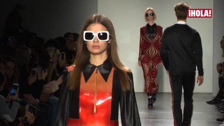 Laura Escanes, novia de Risto Mejide, desfila en la New York Fashion Week con el apoyo de su chico