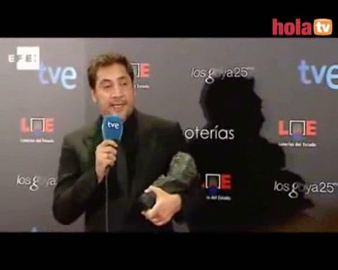 Javier Bardem: \'Este Goya es muy importante para mí\'