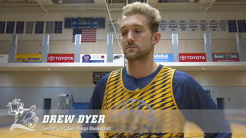 Drew Dyer talks about his game-tying buzzer-beater