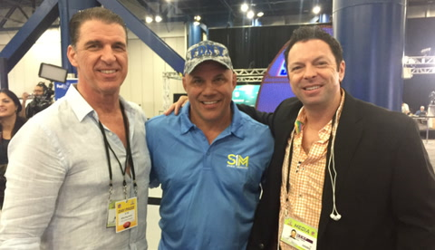 Jim Leyritz with Scott and BR