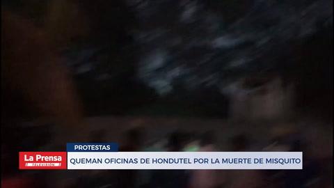 Queman oficinas de Hondutel por la muerte de misquito