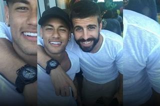 Neymar hace mofa de Gerard Piqué sobe el