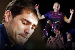 Casillas y la pregunta de un aficionado: ¿Sientes envidia por la despedida a Iniesta?