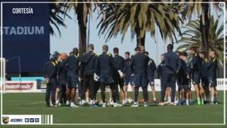 Usain Bolt se entrena por primera vez en Australia