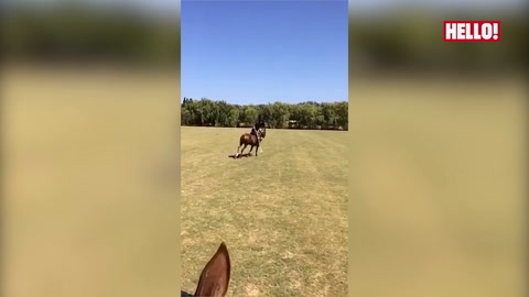 Jessica Knowles shares video from her polo lesson