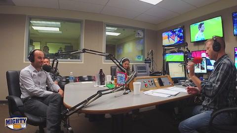 Landon Donovan in studio with Darren Smith