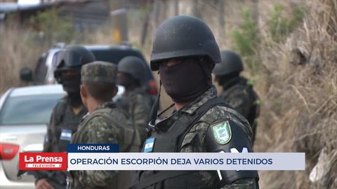 Honduras: Allanamientos y capturas en operación Escorpión
