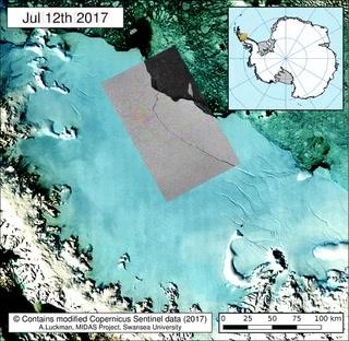 De la ruptura al desprendimiento de iceberg en la Antártida