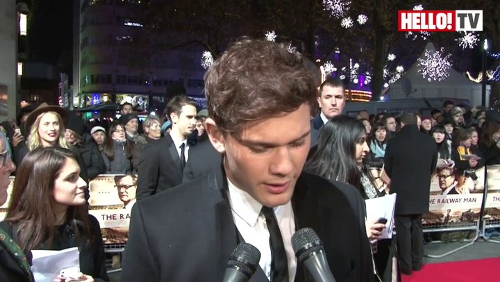 Colin Firth and Jeremy Irvine speak to HELLO! at The Railway Man premiere