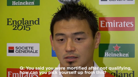 VIDEO - Japan star left in tears by reporter after RWC heroics