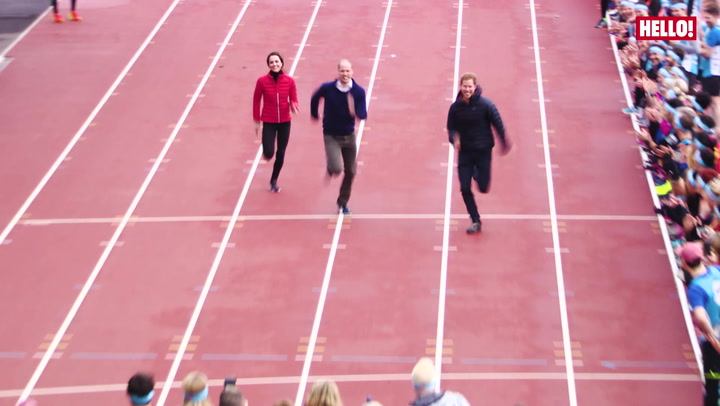 William, Kate and Harry take part in Heads Together run.mp4