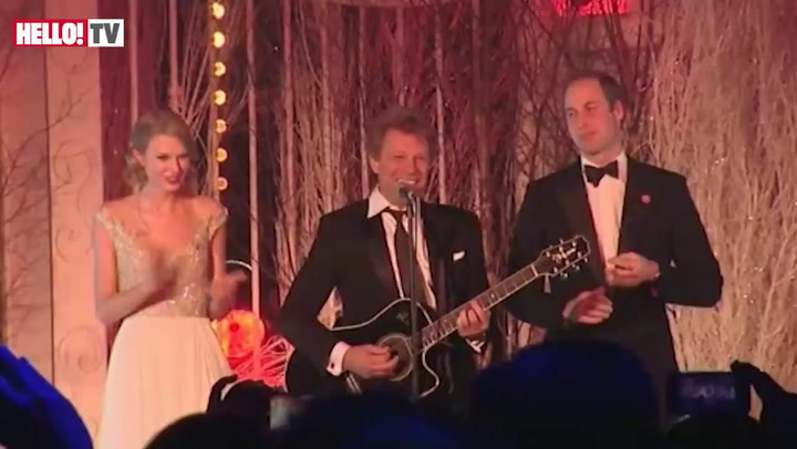 Prince William rocks out with Jon Bon Jovi and Taylor Swift
