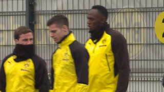 Usain Bolt entrenó con el Borussia Dortmund de Alemania