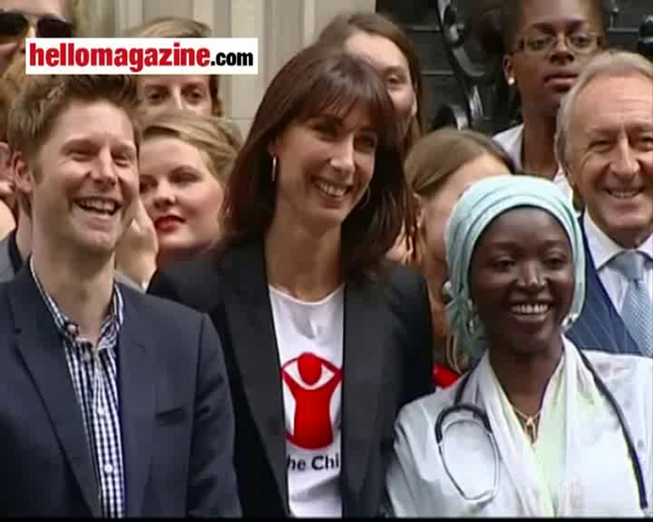 Samantha Cameron takes to the streets to complete a mile-long charity walk