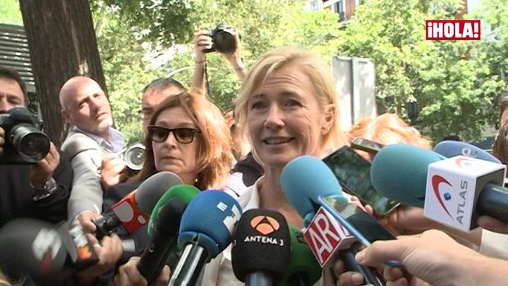 Ana Duato se muestra \'tranquila\' tras declarar ante el juez por presunto delito fiscal