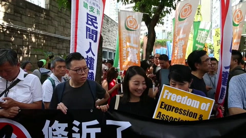 Demócratas de Hong Kong protestan por la prohibición de partido independentista
